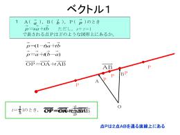 ベクトル方程式(ブレゼンテーションファイルダウンロード)
