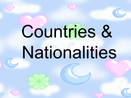 Countries, Nationalities and Languages: Powerpoint
