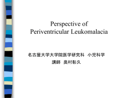 Perspective of Periventricular Leukomalacia