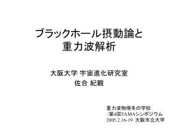 ブラックホール摂動論のレビュー - 神田研究室