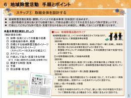 地域除雪活動  実践ガイドブック 【行政職員向け】