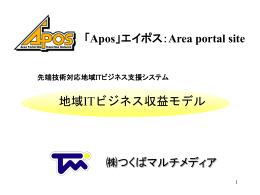 スライド タイトルなし - 地域ポータルサイト Apos