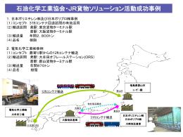 石油化学工業協会・JR貨物ソリューション活動成功事例