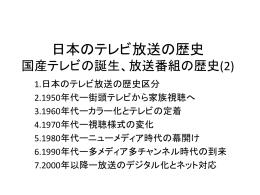 日本のテレビ放送の歴史 国産テレビの誕生、放送番組