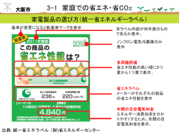 家庭での省エネ・省CO2(後半)(ppt 9.6MB)
