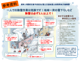 (参考資料)安全な除雪作業をするために
