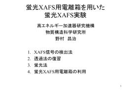 放射光を光源とするXAFS -静的構造から動的構造へ- - PF-XAFS