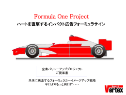 ハートを直撃するインパクト広告フォーミュラサイン Formula One Project