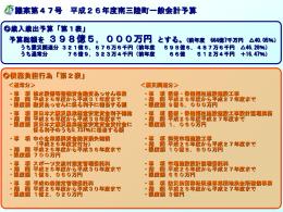 一般会計(概要) [134KB pptファイル]