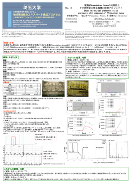 No.2 藍藻Phormidium tenueの光特性と カビ臭物質の発生機構の解明