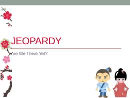 Jeopardy - Japanese Teaching Ideas