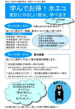 減ってる!熊本の水 熊本市節水キャンペーン