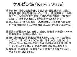 赤道ケルビン波