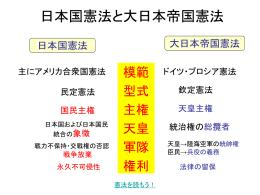 日本国憲法と大日本帝国憲法