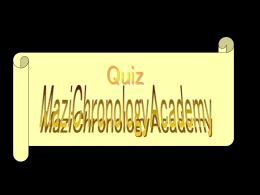 Quiz MaziChronology Academy