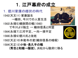 江戸幕府の成立