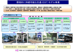 環境的に持続可能な交通(EST)モデル事業(ppt)
