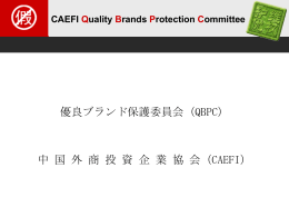 CAEFI Quality Brands Protection Committee
