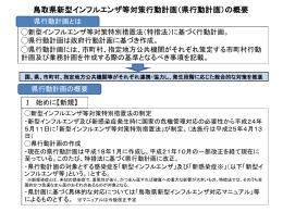 鳥取県新型インフルエンザ等対策行動計画の概要