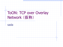 TCP over Overlay Network