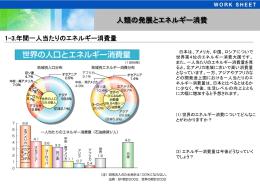 1-3.年間一人当たりのエネルギー消費量