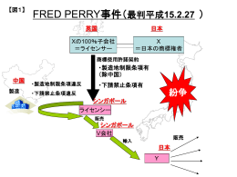 FRED PERRY事件(最判平成15.2.27 )