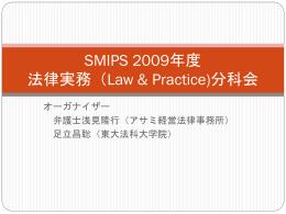 2009年度活動報告 法律実務(LAP)
