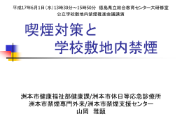 配布用PPTファイル(1169KB) - タバコと空気清浄機の真実を暴露する