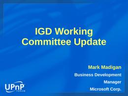 IGD DCP 802.11 アクセス ポイントの構成