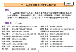 チーム医療の推進に関する検討経過(PDF:261KB)