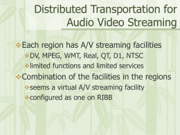 A/V Streaming on RIBB