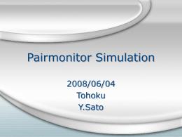 Pairmonitor Simulation