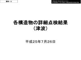 資料3-1 海岸保全施設の詳細点検(津波)