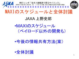 MAXIのスケジュールと全体討議