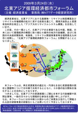 北東アジア循環経済都市フォーラムチラシ