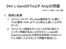 34m L-bandのTrxとIF Ampの問題