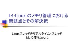L4-Linux のメモリ管理における問題点とその解決策