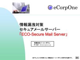 情報漏洩対策メールシステム開発の御提案