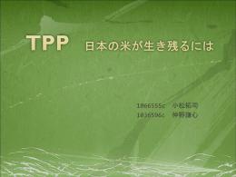 TPP:日本のコメが生き残るには