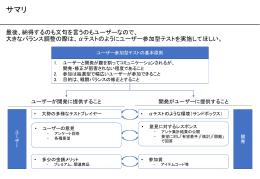 ユーザー参加型テスト