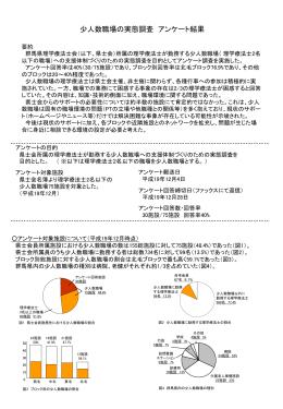 少人数職場アンケート結果報告(パワーポイント)