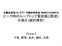 太陽多波長フレアデータ解析研究会 NSRO