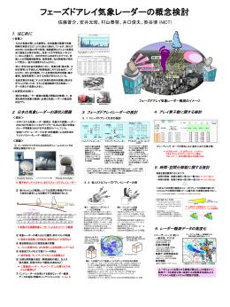 フェーズドアレイ気象レーダーの概念検討