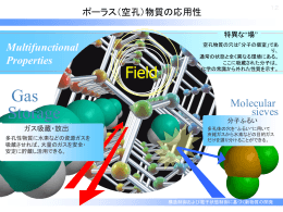 有機/無機細孔(ポーラス)物質と機能性分子からなる機能性包接体