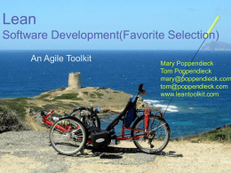 リーンソフトウェア開発 傑作スライド集