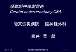 頚動脈狭窄病変に対する当院の頚動脈内膜剥離術戦略