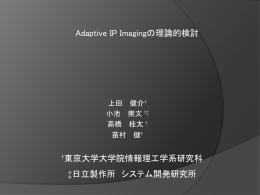 Adaptive IP Imaging の理論的検討