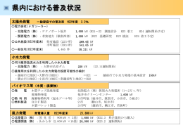 県内の再生可能エネルギー導入状況について(HP)