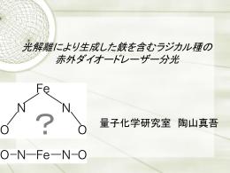 光解離により生成した鉄を含むラジカル種の 赤外ダイオードレーザー分光