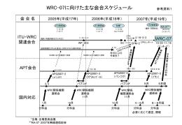 第3回APT-WRC準備会合及び 第2回APT無線フォーラム中間会合への